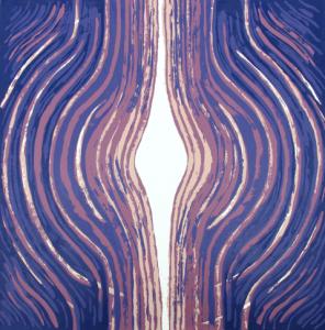 """14-Mauricio Linares-Aguilar.Open.Paper 20 x 15"""". Image 13 x 13"""".Silkscreen."""